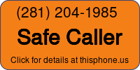 Phone Badge for 2812041985