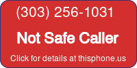 Phone Badge for 3032561031