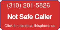 Phone Badge for 3102015826