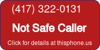 Phone Badge for 4173220131