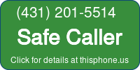 Phone Badge for 4312015514