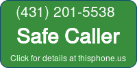 Phone Badge for 4312015538