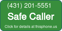 Phone Badge for 4312015551
