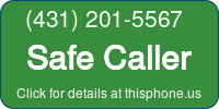 Phone Badge for 4312015567