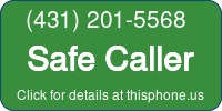 Phone Badge for 4312015568
