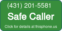 Phone Badge for 4312015581