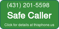 Phone Badge for 4312015598