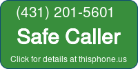 Phone Badge for 4312015601