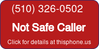 Phone Badge for 5103260502