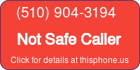 Phone Badge for 5109043194