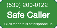 Phone Badge for 5392000122