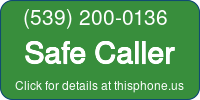 Phone Badge for 5392000136