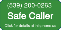 Phone Badge for 5392000263