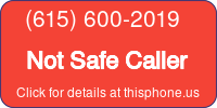 Phone Badge for 6156002019