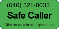 Phone Badge for 6463210033