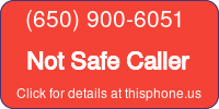 Phone Badge for 6509006051