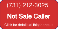 Phone Badge for 7312123025