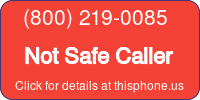 Phone Badge for 8002190085