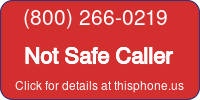Phone Badge for 8002660219