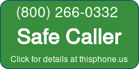 Phone Badge for 8002660332