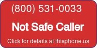 Phone Badge for 8005310033