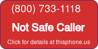 Phone Badge for 8007331118