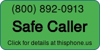 Phone Badge for 8008920913