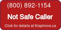 Phone Badge for 8008921154