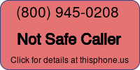 Phone Badge for 8009450208