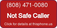 Phone Badge for 8084710080