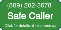 Phone Badge for 8092023078