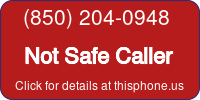 Phone Badge for 8502040948