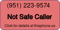Phone Badge for 9512239574